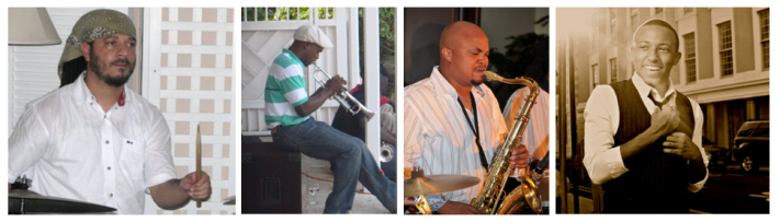 "Kevin Dean, Drums / Lamont ""Shorts"" Gibson, Trumpet / Dion Turnquest, Tenor Sax / Osano Neely, Young Vocalist"