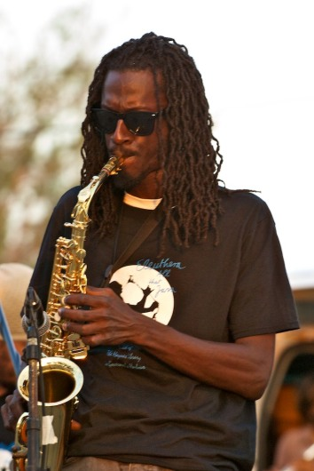 Tino Richardson on Sax